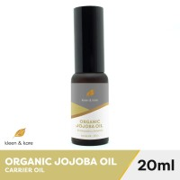 Organic Jojoba Oil 20ml 100% Pure, Unrefined, Cold Pressed Carrier Oil