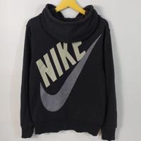 Sweater Ziphoodie Nike Big Logo Swoosh Size L