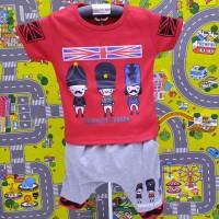 Setelan baju anak cowok cewek lokal / baju santai / baju bermain anak