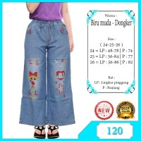 Celana Kulot Jeans Anak Motif Bordir Anak perempuan
