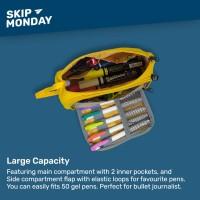 Skip Monday Max Capacity Pencil Case - Tempat Pensil Alat Tulis Jumbo - Tomato Red