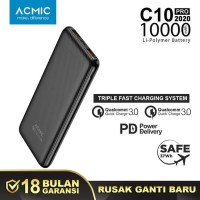 ACMIC C10PRO Power Bank 10.000mAh Fast Qualcomm Quick Charge 3.0 + PD