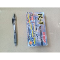 Pulpen Gel 0.5mm Hitam Retractable Gel Pen Kenko K-1