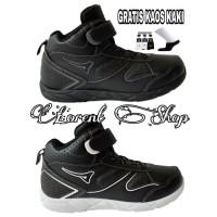 Sepatu Anak Sekolah Boots Ardiles Original POPSICLE - 31, Hitam-Putih
