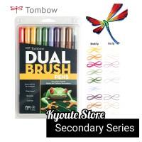 TOMBOW ABT SECONDARY SET DUAL BRUSH PEN Marker Lettering Craft DIY