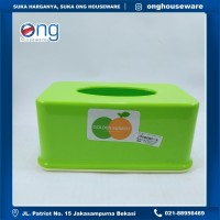 Tempat Tisu Box Tissue Kotak Plastik Golden Sunkist TT1033 TT 1033