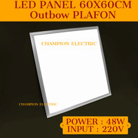 Lampu Downlight LED Panel 48W 60x60cm Outbow plafon