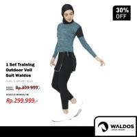 PROMO 1 Setelan Baju Training Outdoor Waldos Hijab Muslim Senam