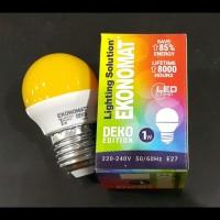 Lampu Bohlam Led Ekonomat 1 watt Kuning