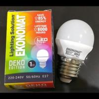 Lampu Bohlam Led Ekonomat 1 watt WarmWhite