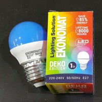 Lampu Bohlam Led Ekonomat 1 watt Biru