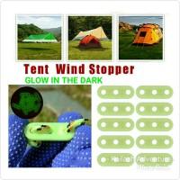 Stopper Guyline tensioner Tali Tenda dan Flysheet - Glow in the dark
