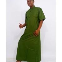 Gamis jubah lengan pendek hijau muda
