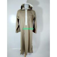 gamis jubah hoodie coklat muda XXXL