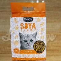 Pasir Kucing Gumpal Import No Dust/Kit Cat Soya Clump Litter 7L Peach