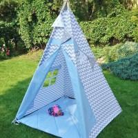 teepee tent / tenda bermain anak full set alas dan bantal awan