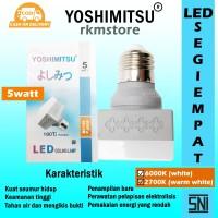 LAMPU LED CEILING LAMP PERSEGI 5WATT MEREK YOSHIMITSU JAMIN TERANG - Putih