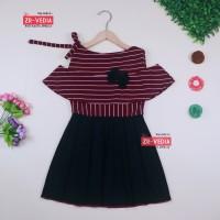 Dress Rachel uk 4-5 Tahun / Dres Model Baju Anak Perempuan Gaun Pesta