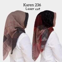 KAREN 236/ Segiempat Voal Lasercut/ Deenay KW/ Deenay Lasercut
