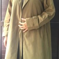 Long Coat Trench Coat Blazer Outer Panjang Army Umama Katun