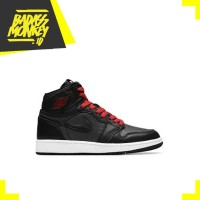 AIR JORDAN 1 RETRO HIGH BLACK SATIN GYM RED - 11.5