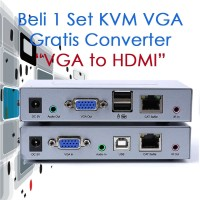 KVM VGA Extender+Audio Over IP (bisa Lewat Router/Switch)-1 to Many RX