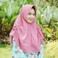 Khimar TALITA serut samping kanan dan kiri/jilbab instan pet talita