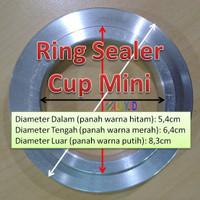 Ring Sealer Tutup Cup Kecil Mini 50ml 60ml 65ml Agar Ager Puding Rapat