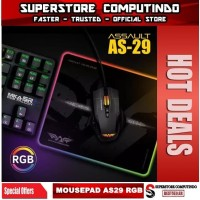 Armaggeddon Assault AS29 RGB Gaming Mouse Pad - Dimensi : 250x300mm
