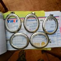 Liontin Import Titanium Asli size Jumbo 51x41 mm untuk batu cincin
