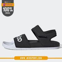 Sandal Sepatu Sneakers Adidas Adilette Sandals Black White Original G2