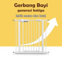New Version 3 - Baby Safety Gate Pagar Pengaman Bayi Gate / 7 10 20 cm - Gate Only