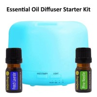 300ml USB Essential Oil Diffuser Humidifier Bonus 2x 5ml Essential Oil