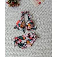 bikini set bra push up celana boxer baju renang swimwear wanita 3313