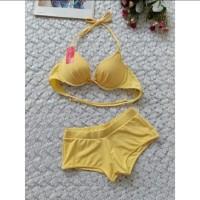 Bikin bra push up celana boxer baju renang swimwear wanita B3323