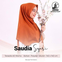 Kerudung Segi Empat Polos Syar'i SAUDIA UMAMA Hijab Jilbab Syari