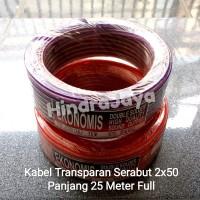 Kabel Listrik Transparan 2x50 Panjang 25 Meter Full