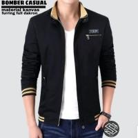 jaket bomber pria / bomber champion style terlaris premium - Hitam