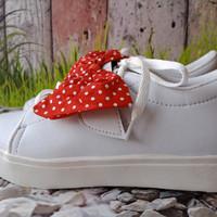 Sepatu Wanita Kets Casual Pita Polkadot SDS247
