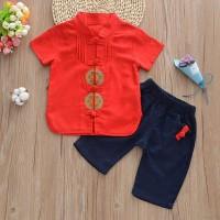 BBWORLD CNY Boy Baby Clothes Set Chinese Style Kids Boy Clothing Summe
