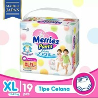 MERRIES PREMIUM PANTS XL 19 / DIAPER / POPOK / PAMPERS
