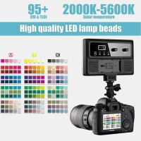 Lampu LED Vlog GVM GVM-RGB-10S RGB On-camera Light for Kamera RESMI