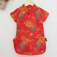 Fen Cheongsam / Cheongsam Anak Perempuan / Dress Imlek Sincia Anak