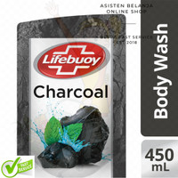 LIFEBUOY Body Wash Charcoal and Mint 450 ml Sabun Mandi Lawan Polusi