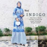 gamis batik - longdres batik maxy indigo
