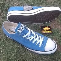 sepatu casual sneaker Converse ctas ox. Totally blue Original Bnib