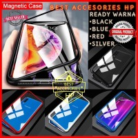 SAMSUNG GALAXY A10 A105 LUXURY MAGNETIC CASE TEMPERED GLASS BACK COVER