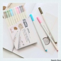 STA Metallic Pen Brush Pen Marker 10 Warna Set Murah Berkualitas