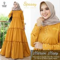 Baju Gamis Muslimah Mutiara Marion Maxy Kuning Pakain Muslimah Wanita