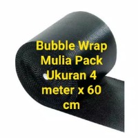Bubble Wrap Hitam ukuran 4M x 60 Cm merk MP